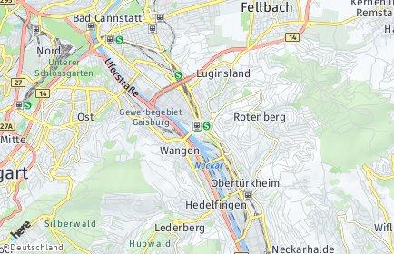 Stadtplan Stuttgart OT Untertürkheim
