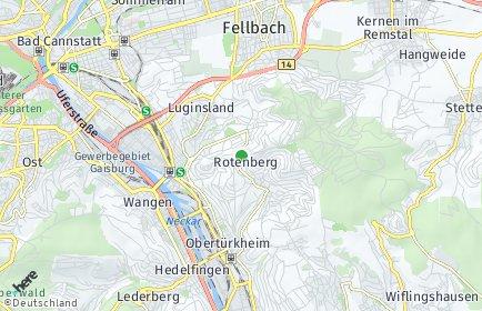 Stadtplan Stuttgart OT Rotenberg