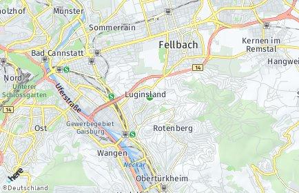 Stadtplan Stuttgart OT Luginsland