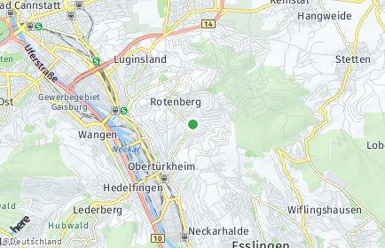 Stadtplan Stuttgart OT Uhlbach