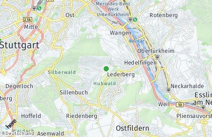 Stadtplan Stuttgart OT Rohracker