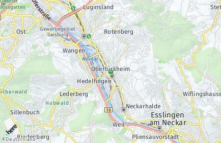 Stadtplan Stuttgart OT Obertürkheim