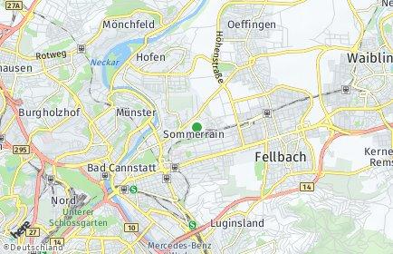 Stadtplan Stuttgart OT Sommerrain