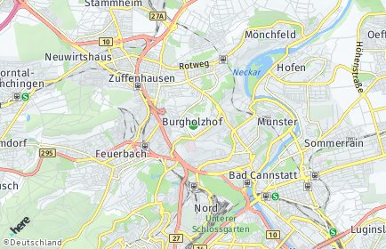 Stadtplan Stuttgart OT Burgholzhof