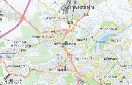 Stadtplan Stuttgart OT Zuffenhausen
