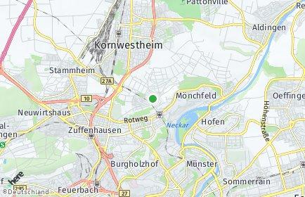 Stadtplan Stuttgart OT Zazenhausen