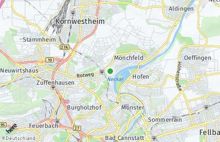 Stadtplan Stuttgart OT Freiberg