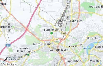 Stadtplan Stuttgart OT Stammheim
