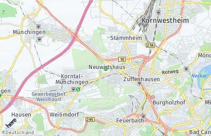 Stadtplan Stuttgart OT Neuwirtshaus