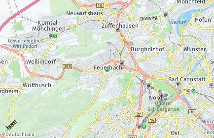 Stadtplan Stuttgart OT Feuerbach