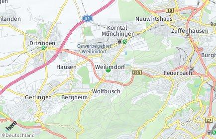 Stadtplan Stuttgart OT Weilimdorf