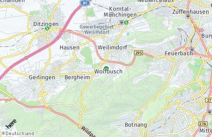 Stadtplan Stuttgart OT Wolfbusch