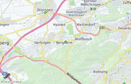 Stadtplan Stuttgart OT Bergheim