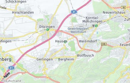 Stadtplan Stuttgart OT Hausen