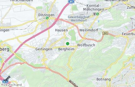 Stadtplan Stuttgart OT Giebel