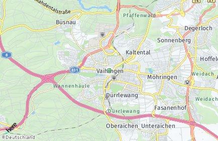 Stadtplan Stuttgart OT Vaihingen