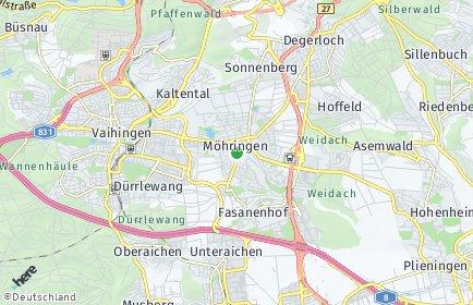 Stadtplan Stuttgart OT Möhringen
