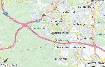 Stadtplan Stuttgart OT Rohr