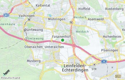 Stadtplan Stuttgart OT Fasanenhof