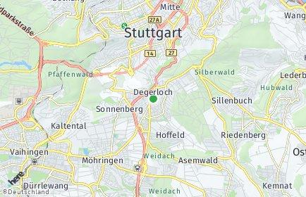 Stadtplan Stuttgart OT Degerloch