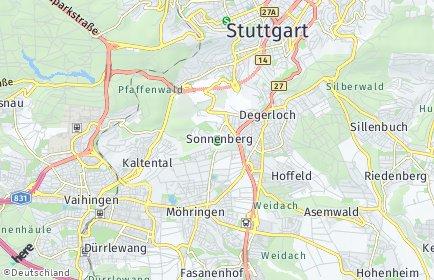 Stadtplan Stuttgart OT Sonnenberg