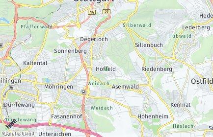 Stadtplan Stuttgart OT Hoffeld