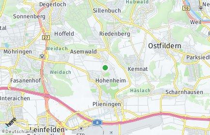 Stadtplan Stuttgart OT Birkach