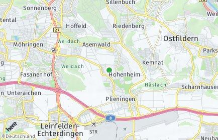 Stadtplan Stuttgart OT Steckfeld