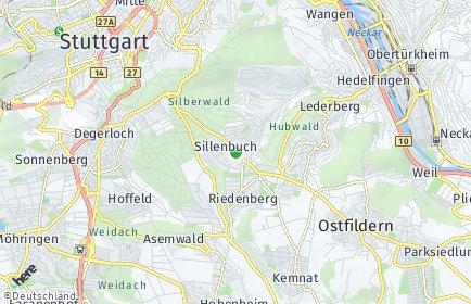 Stadtplan Stuttgart OT Sillenbuch