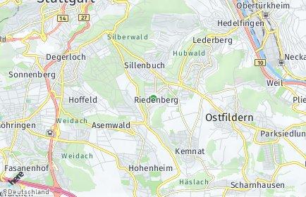 Stadtplan Stuttgart OT Riedenberg
