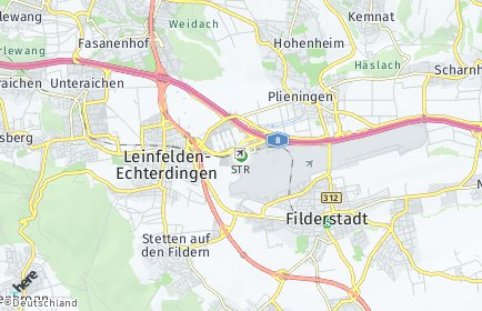 Stadtplan Stuttgart OT Flughafen