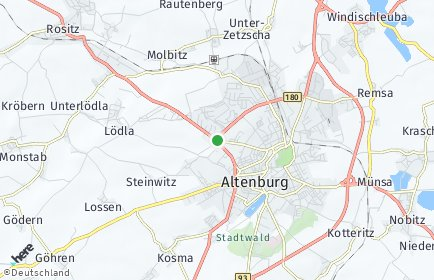 Stadtplan Altenburger Land
