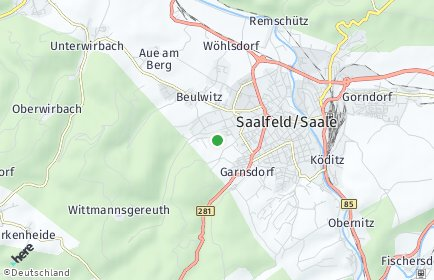 Stadtplan Saalfeld-Rudolstadt