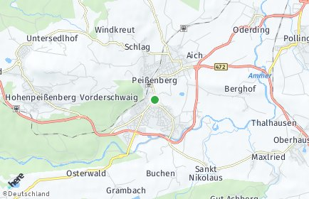 Stadtplan Peißenberg