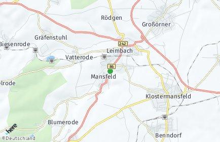 Stadtplan Mansfeld