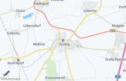 Stadtplan Zörbig