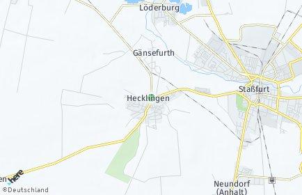 Stadtplan Hecklingen