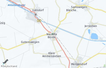 Stadtplan Niedere Börde