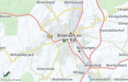 Stadtplan Biberach