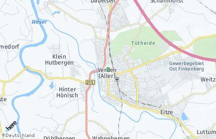 Stadtplan Verden