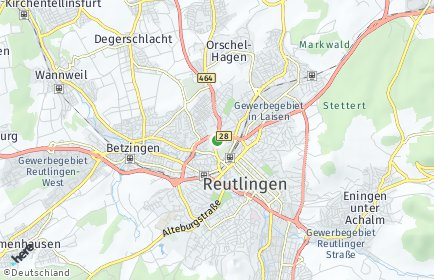 Stadtplan Reutlingen