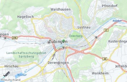 Stadtplan Tübingen