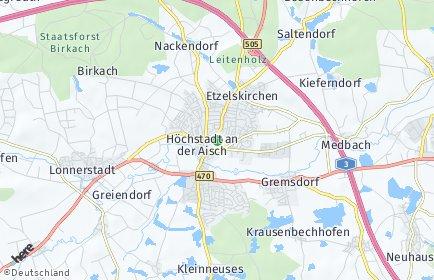 Stadtplan Erlangen-Höchstadt