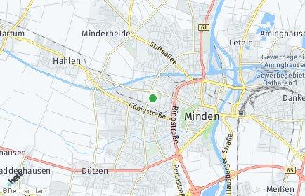 Stadtplan Minden-Lübbecke