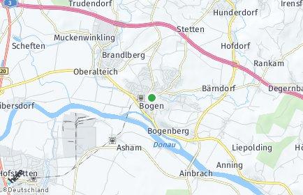 Stadtplan Straubing-Bogen