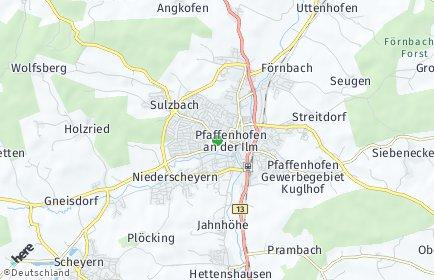 Stadtplan Pfaffenhofen an der Ilm