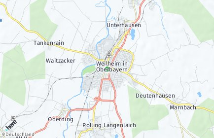 Stadtplan Weilheim-Schongau