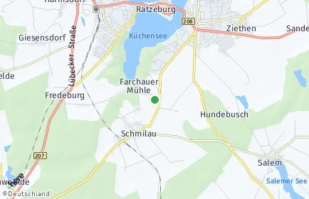 Stadtplan Herzogtum Lauenburg
