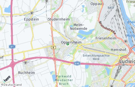 Stadtplan Rhein-Pfalz-Kreis