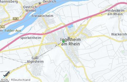 Stadtplan Mainz-Bingen